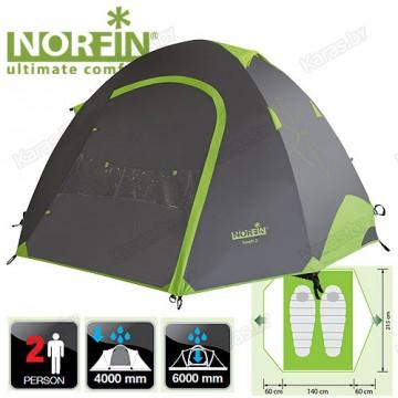 Двухместная палатка Norfin Smelt 2 Alu